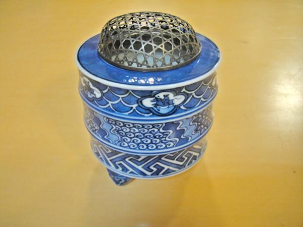 工芸品 陶磁器 香炉 松谷