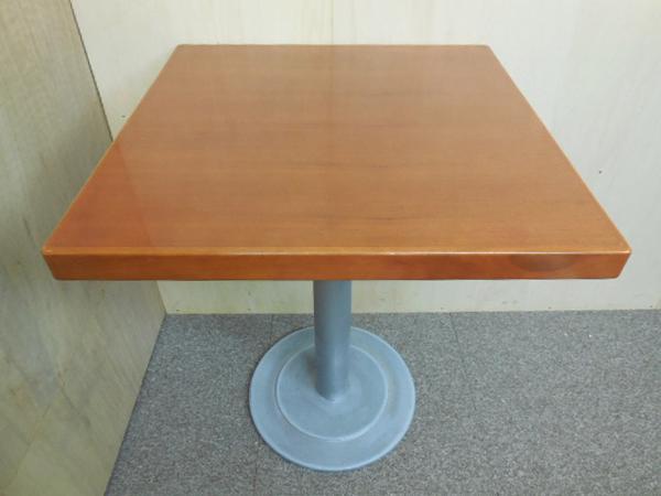 業務用カフェテーブル木製天板 600×600mm