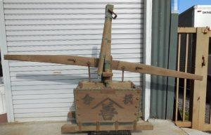 古民具 アンティーク 大型木製消火ポンプ