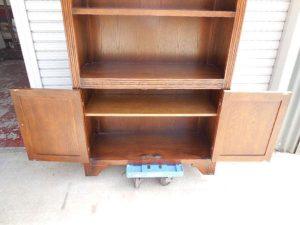 アンティーク調木製キャビネット食器棚