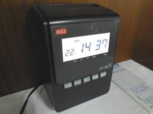 MAタイムレコーダー ER-110S5