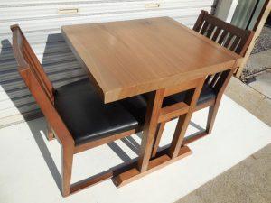 天然木天板 テーブル イス2脚3点セット